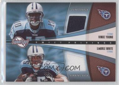 2006 Sweet Spot - Sweet Pairings Dual Jerseys #SPD-YW - Vince Young, LenDale White