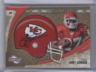 2006 Sweet Spot Signatures Gold #SSS-LJ - Larry Johnson /100