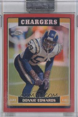 2006 Topps Chrome Red Refractor #80 - Donnie Edwards /259