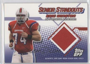 2006 Topps Draft Pick & Prospects Senior Standouts Relics #SS-EW - [Missing]