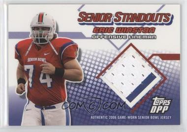 2006 Topps Draft Picks and Prospects (DPP) Senior Standouts Relics #SS-EW - Eric Winston