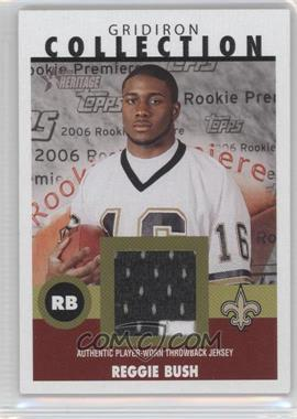 2006 Topps Heritage Gridiron Collection Throwback Relics #GC-RB - Reggie Bush