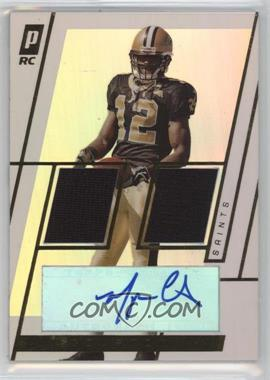 2006 Topps Paradigm Rookie Dual Relic Autographs Gold #TPDR-MC - Marques Colston /50