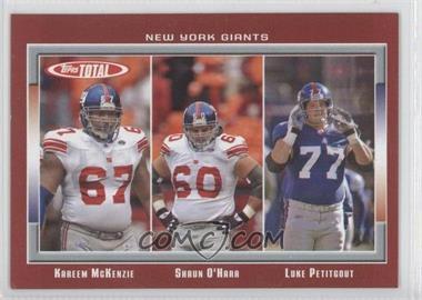 2006 Topps Total Total Red #267 - Kareem McKenzie, Shaun O'Hara, Luke Petitgout