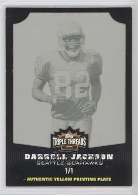 2006 Topps Triple Threads - [Base] - Printing Plate Yellow #50 - Darrell Jackson /1