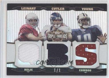 2006 Topps Triple Threads - Relic Combos - Platinum #TTRC22 - Jay Cutler, Vince Young /1
