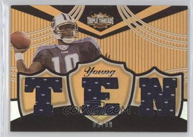 2006 Topps Triple Threads - Relics - Gold #TTR-40 - Vince Young /9