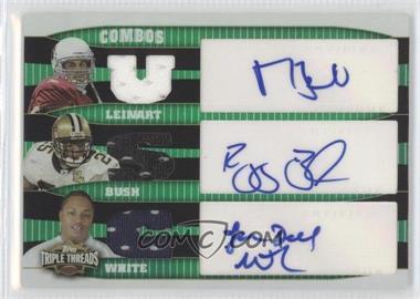 2006 Topps Triple Threads Autographed Relic Combos Emerald #TTRCA-1 - LenDale White, Reggie Bush, Matt Leinart /18