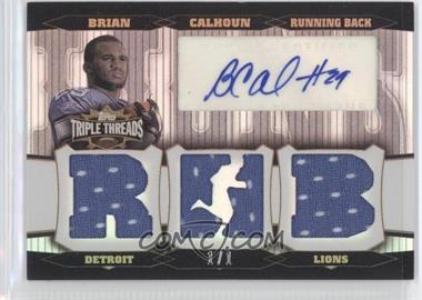 2006 Topps Triple Threads Autographed Relics Platinum #TTRA-95 - Brian Calhoun /1