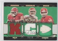 Larry Johnson, Tony Gonzalez, Trent Green /18
