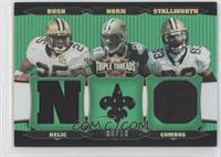 Donte Stallworth, Joe Horn, Reggie Bush /18