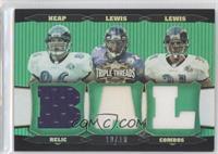Todd Heap, Jamal Lewis, Ray Lewis /18