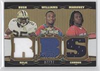 Laurence Maroney, DeAngelo Williams, Reggie Bush /27