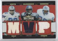 Barry Sanders, Shaun Alexander, Emmitt Smith /36