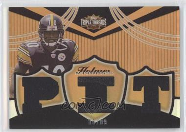 2006 Topps Triple Threads Relics Gold #TTR-67 - Santonio Holmes /9