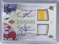 Tiki Barber, Rudi Johnson, LaDainian Tomlinson, Larry Johnson /5