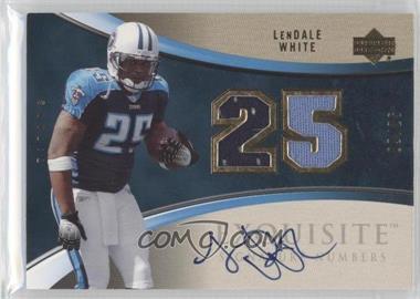 2006 Upper Deck Exquisite Collection - Signature Numbers #ESN-LW - LenDale White /25