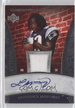2006 Upper Deck Exquisite Collection Signature Swatch #ESS-LM - Laurence Maroney /25