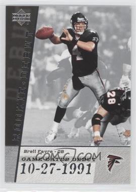 2006 Upper Deck Rookie Debut [???] #GDD-BF - Brett Favre