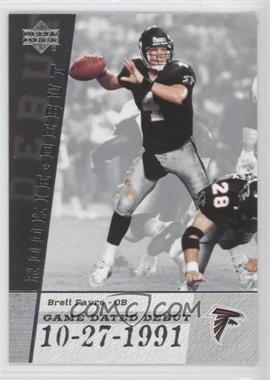 2006 Upper Deck Rookie Debut Game-Dated Debut #GDD-BF - Brett Favre