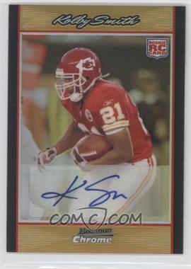 2007 Bowman Chrome - [Base] - Rookie Autographs Gold Refractor [Autographed] #BC103 - Kolby Smith /50