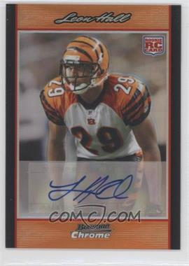 2007 Bowman Chrome Rookie Autographs Orange Refractor [Autographed] #BC109 - Leon Hall /25