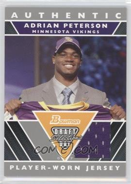 2007 Bowman Draft Day Selections Relics #DJ-N/A - Adrian Peterson
