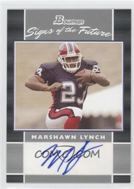 2007 Bowman Signs of the Future #SF-ML - Marshawn Lynch