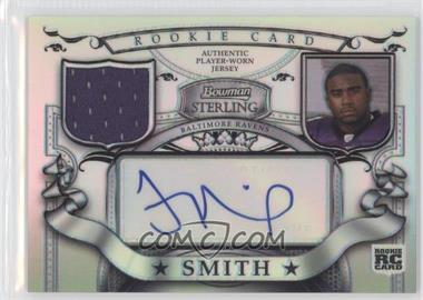 2007 Bowman Sterling - Rookie Relic Autographs - Refractor #BSRR-TS - Troy Smith /199