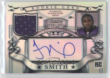 2007 Bowman Sterling Rookie Relic Autographs Refractor #BSRR-TS - Troy Smith /199