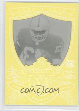 2007 Bowman Sterling Rookie Relics Framed Printing Plate Yellow #BSRR-MB - Michael Bush /1