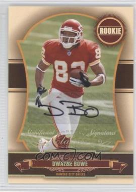 2007 Donruss Classics - [Base] - Significant Signatures Gold [Autographed] #174 - Dwayne Bowe /100