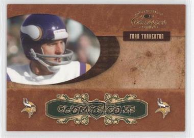 2007 Donruss Classics Classic Singles Gold #CS-18 - Fran Tarkenton /100