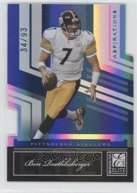 2007 Donruss Elite - [Base] - Aspirations Die-Cuts #77 - Ben Roethlisberger /93