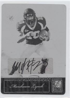 2007 Donruss Elite Printing Plate Black #172 - Marshawn Lynch /1