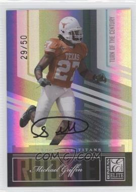 2007 Donruss Elite Turn of the Century Rookie Autographs [Autographed] #175 - Michael Griffin /50