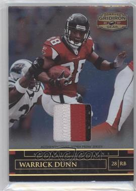 2007 Donruss Gridiron Gear Materials Prime #26 - Warrick Dunn /50