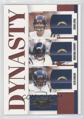 2007 Donruss Threads Dynasty #D-9 - Antonio Gates, Philip Rivers, LaDainian Tomlinson