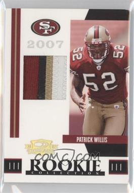 2007 Donruss Threads Rookie Collection Materials Prime #RCM-32 - Patrick Willis /25