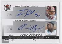 Jason Campbell, Ronnie Brown