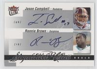 Ronnie Brown, Jason Campbell /25