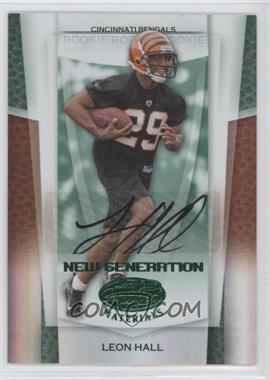 2007 Leaf Certified Materials Mirror Emerald Signatures [Autographed] #171 - Leon Hall /5