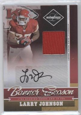 2007 Leaf Limited - Banner Season Materials - Signatures [Autographed] #BS-2 - Larry Johnson /25