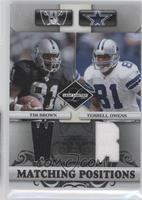 Terrell Owens, Tim Brown /100