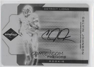 2007 Leaf Limited Printing Plate Black #308 - Calvin Johnson /1