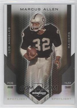 2007 Leaf Limited Spotlight Gold #165 - Marcus Allen /10