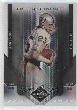 2007 Leaf Limited Spotlight Silver #130 - Fred Biletnikoff /20