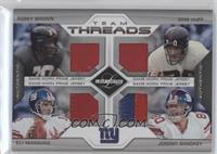Eli Manning, Sam Huff, Jeremy Shockey, Rosey Brown /25