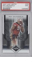 Ray McDonald /299 [PSA9]