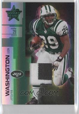 2007 Leaf Rookies & Stars - [Base] - Longevity Parallel Emerald Prime Material [Memorabilia] #63 - Leon Washington /25